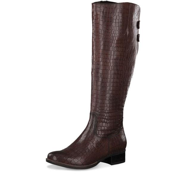 Slika Ženske čizme 25528 mahogany croco