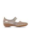 Slika Ženske cipele Rieker 413G8 clay/silver