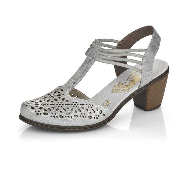 Slika Ženske sandale Rieker 40969 silver/frost