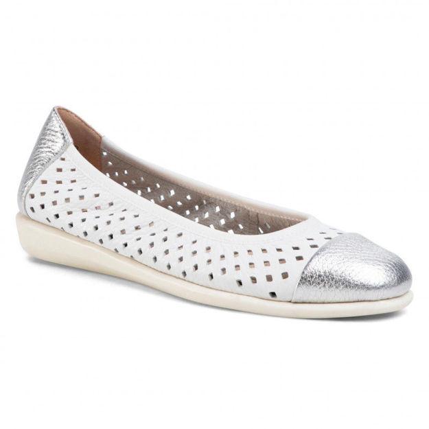 Slika Ženske baletanke Caprice 22167 silver/white