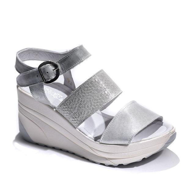 Slika Ženske sandale Tref 2862 srebrne