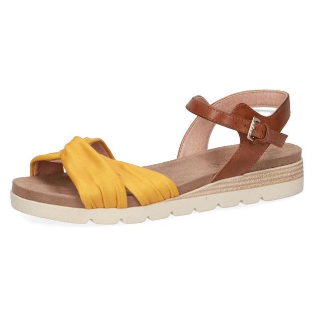 Slika Ženske sandale Caprice 28609 lemon/nut