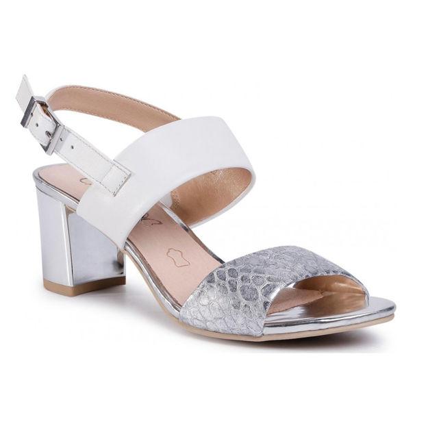 Slika Ženske sandale Caprice 28302 silver/white