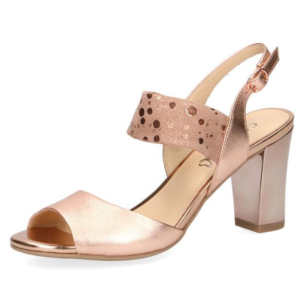 Slika Ženske sandale Caprice 28304 rose gold comb