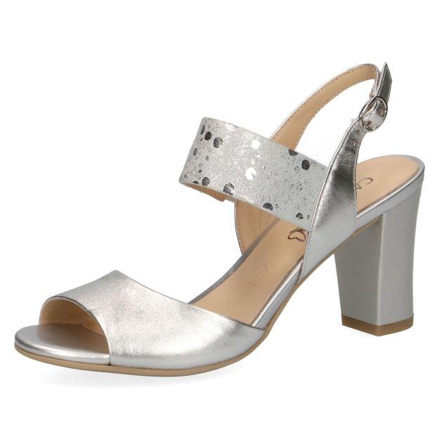 Slika Ženske sandale Caprice 28304 silver comb