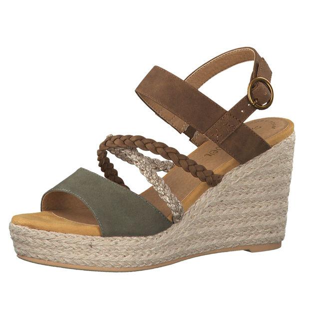 Slika Ženske sandale S Oliver 28314 khaki comb