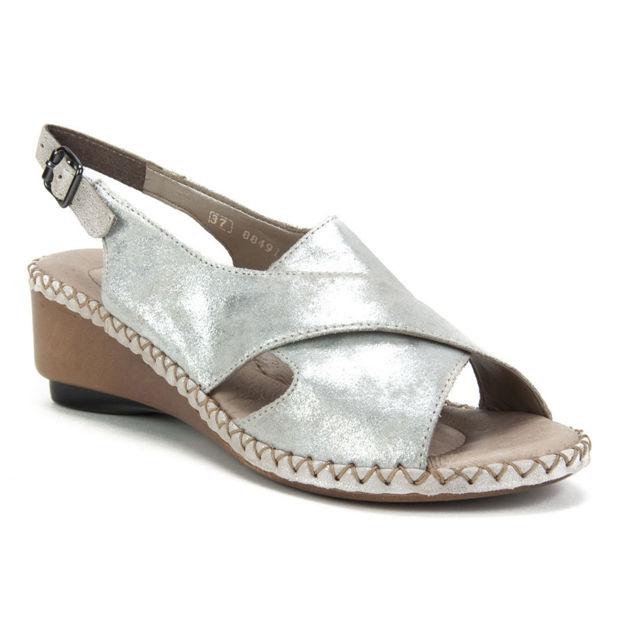 Slika Ženske sandale  Rieker 66170 silver