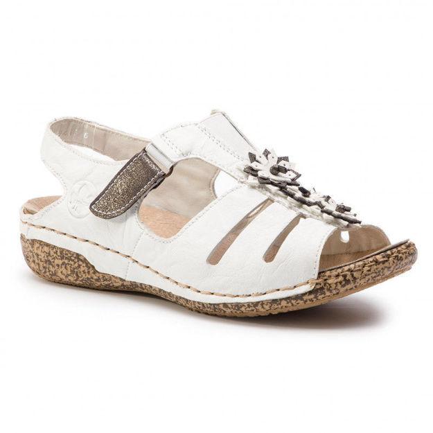 Slika Ženske sandale Rieker V7273 white