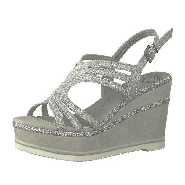 Slika Ženske sandale Marco Tozzi 28326 srebrne