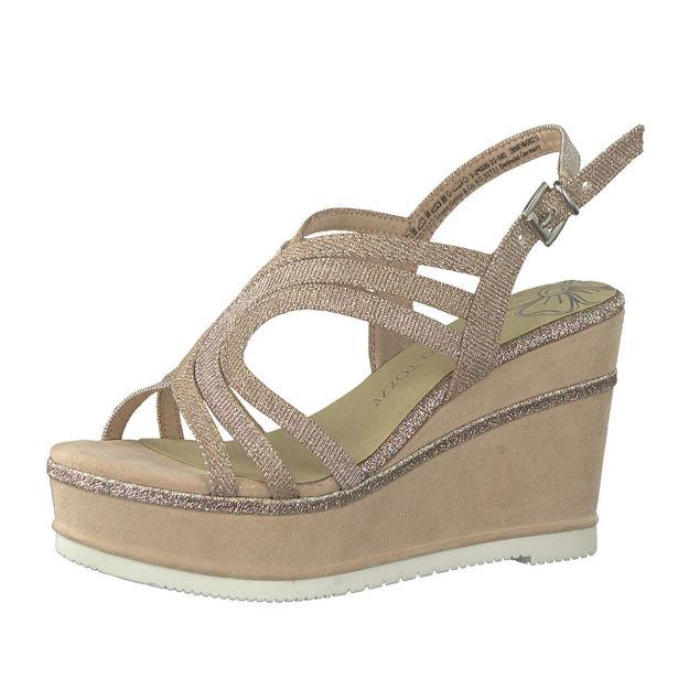 Slika Ženske sandale Marco Tozzi 28326 zlatne