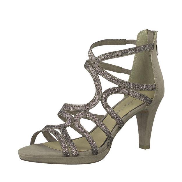 Slika Ženske sandale Marco Tozzi 28373 bež