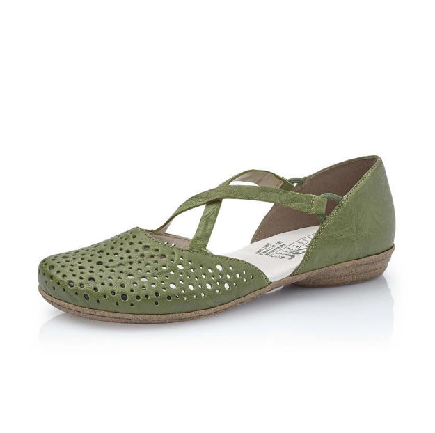 Slika Ženske cipele Rieker 53955 zelene