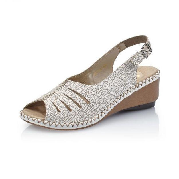 Slika Ženske sandale Rieker 66174 bež