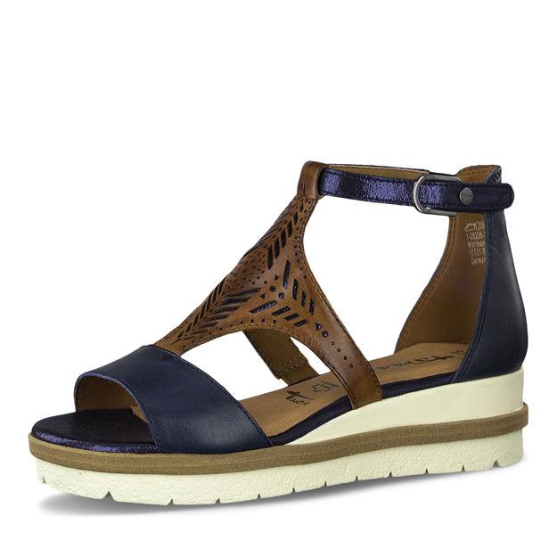 Slika Ženske sandale Tamaris 28228 navy/nut comb