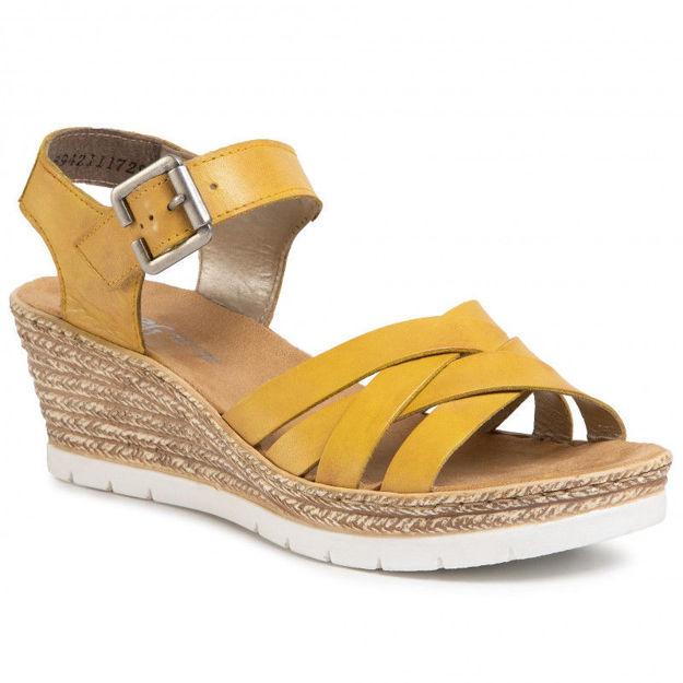 Slika Ženske sandale Rieker 61963 yellow